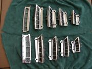 1965 1966 Ford Mustang Original Fastback Roof Louver Vent Grille Bezels