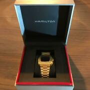 Hamilton Psr Gold With Limited Edition 1970 Box Novelty Tote Bag F/s From Japan