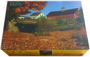 Vintage Sealed Farm In Fall 1000 Piece Jigsaw Puzzle By Golden New In The Box