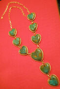 Gorgeous Navajo Pawn Royston Turquoise Heart .925 Sterling Silver Necklace Teal