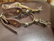 Vintage Anchor Stamped Trademark North And Judd Western Cowboy Boot Spurs