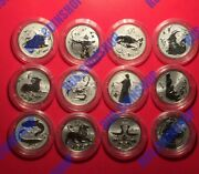2 Roubles 2005 Russia Signs Of The Zodiac Full Set Silver Proof