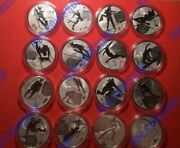 3 Roubles 2014 Russia Xxii Olympic Winter Games Sochi Full Set Silver Proof