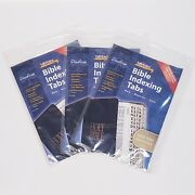 3 Pack Bible Indexing Tabs New 77 Large Print Gold New And Old Testament Tabbies