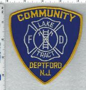 Deptford Fire Department New Jersey Community Lake Tract Shoulder Patch