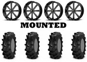 Kit 4 Itp Cryptid Tires 36x10-18 On Msa M34 Flash Black Wheels Can