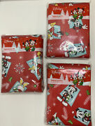 Disney Mickey Minnie Mouse Christmas Vinyl Tablecloths 2 - 70 In 1 - 60x 102 In