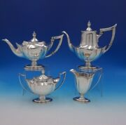 Plymouth By Gorham Sterling Silver Tea Set 4pc 4825