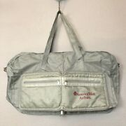 Vintage American West Airlines Duffle Bag Packable Gray Nylon Carry On Bag