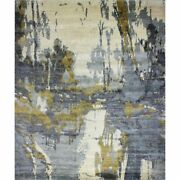 Bashian Cascade Sausalito 9and039 X 12and039 Area Rug In Ivory And Blue