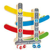 4pc Hape Fast Flip Wooden Racetrack Toddler 18m+ Racing/race Track Game Play Toy