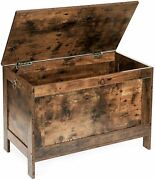 Rustic Brown Wooden Toy Box Chest Storage Bench Trunk Play Room Organize Bedroom