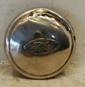 One 1 1940s Ford 6.5 Dog Dish Hubcap With Embossed Ford Script Logo