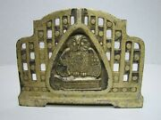Antique Wise Old Owl Book Rack Judd Mfg Co Decorative Arts Adjustable Book Ends