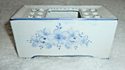 Frog Portugal Elpa Alcobaca Hand Painted Blue And White Flowers Vintage Euc