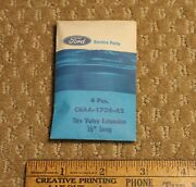Nos Ford Mustang Thunderbird Tire Valve Extensions C6aa-1705-a2 In 1966 Envelope