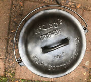 Mcclary Cast Iron Flat Bottom Kettle With Lid And Trivet