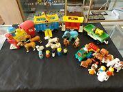Vtg Fisher Price Little People 991 Play Circus Train Complete Set + Extras
