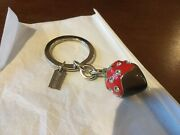 New Coach 3d Chocolate Dip Strawberry Pave Crystal Keychain/keyring/fob 93086