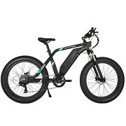 26''fat Tire Electric 750w 48v 13a Bicycle E-bike City 7 Speed For Adults Black