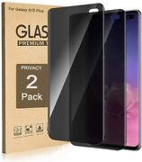2 Pack Privacy Screen Protector Tempered Glass For Samsung Galaxy S10  s10 Plus