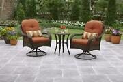 3 Piece Outdoor Bistro Set Garden Patio Table And Chairs Porch Deck Furniture
