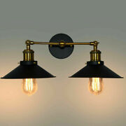 Warehouse Rustic Metal Wall Sconce Light Industrial Style Bran Wall Lamp Fixture