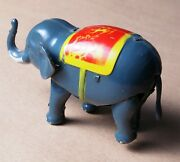 Elephant Tin Wind-up Antique Lithograph Toy Floppy Ears Vintage Very Rare