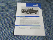 1992 Jeep Comanche Press Release Packet Kit With Photo And News Set