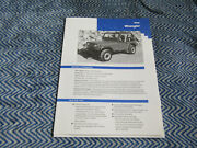 1992 Jeep Wrangler And Sahara Press Release Packet Kit With Photo And News Set