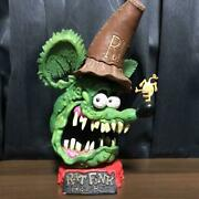 Ed Roth Rat Fink Big Head Green Statue Outstanding Presence And Preeminent Figure