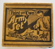 Barclay Vintage Toy Soldiers Ba Paint-your-own-army Set Rare Manoil