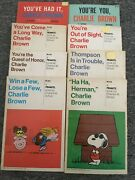 Peanuts Charles M Schulz 8 First Edition Softcover Books Snoopy Charlie Brown