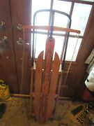 Vintage Yankee Clipper Flexible Flyer Wooden Sled Model 13 Rare 1940and039s A+ Cond