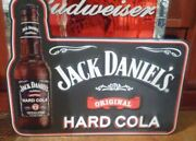 Jack Daniels Old No. 7 Hard Cola Embossed Tin / Metal Sign 30x25