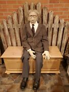 Life Size Old Man Corpse Movie/halloween Prop Dummy Dressed Jointed Hand-made
