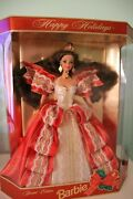 1997 Mattel Holiday Barbie Doll New In Box Rare Misprinted Background