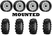 Kit 4 Itp Cryptid Tires 36x10-18 On Msa M37 Brute Beadlock Machined Wheels Ter