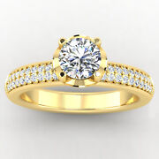 Solitaire 0.76 Ct Real Diamond Bridal Engagement Ring 1k Yellow Gold Size 7 8 6