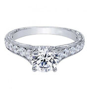 18k White Gold 0.90ct Natural Diamond Engagement Wedding Rings Solid Size 7 8 9