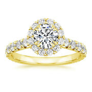 Christmas Gift 1.30 Ct Real Diamond Engagement Ring 18k Yellow Gold Size 6 7 8 5