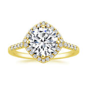 Solid 18k Yellow Gold 0.60 Ct Real Diamond Engagement Ring For Bridal Size 6 7 8