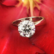 18k White Gold 0.50 Ct Real Diamond Solitaire Wedding Rings Ring Size 5 6 7 8 9