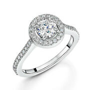Solid 18k White Gold 0.85 Ct Real Diamond Solitaire Women Rings Size 5 6 7 Sale