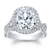 Real Diamond Solitaire 1.30 Ct Womens Rings Solid 18 K White Gold Ring Size 7 6