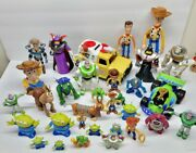 Lot Of 32 Disney Pixar Toy Story Action Figures And Pizza Planet Vehicle-free Sandh
