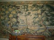 Large Vintage Wool Hand-knotted Woven Hanging European Wall Tapestry