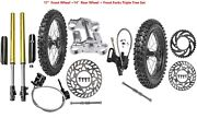 14andldquo 17andrdquo Front Rear Wheel Assembly Tire Front Fork Triple Dirt Pit Bike 110 125cc