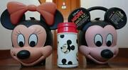 Aladdin Mickey And Minnie Mouse Lunch Box And Water Bottle Set 80s Vintage F/s