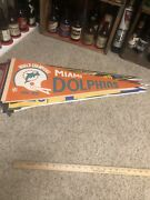 Miami Dolphins Pennant World Champions Undefeated Season 1972-1973